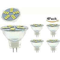 jklcom mr11gu4LED電球、gu4ベースlood電球、3W、ホワイト、155630smd LEDハロゲン交換用バルブ、20Wハロゲン同等、4パック