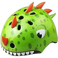 KUFUN ヘルメット 子供用 可愛い恐竜型 超軽量 調整可能 幼児 キッズ 小学生 スケートボードなど適用 スポーツヘルメット