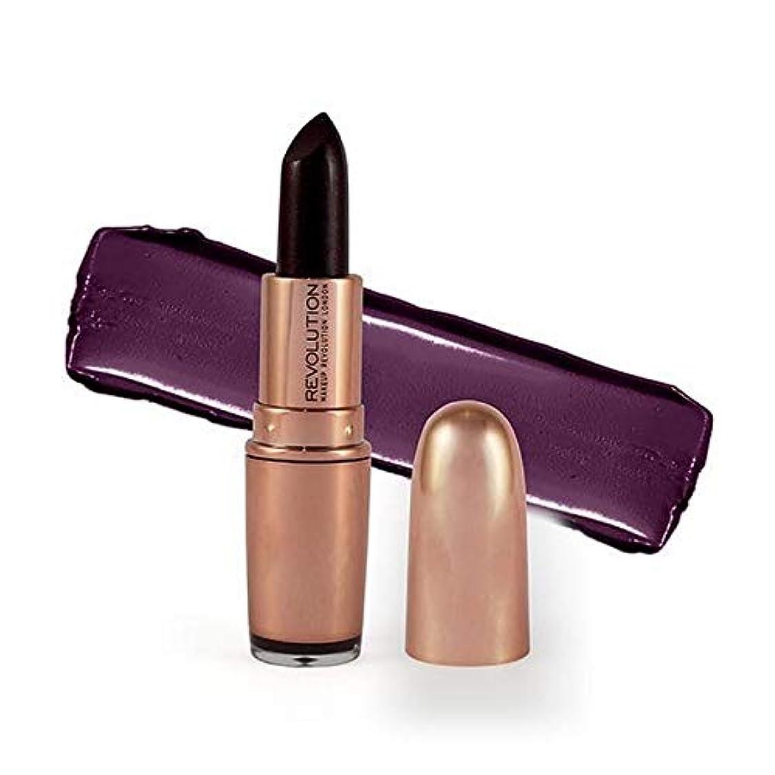 教授出演者長方形[Revolution ] 革命は、金口紅ダイヤモンドライフ3.2グラムをバラ - Revolution Rose Gold Lipstick Diamond Life 3.2G [並行輸入品]