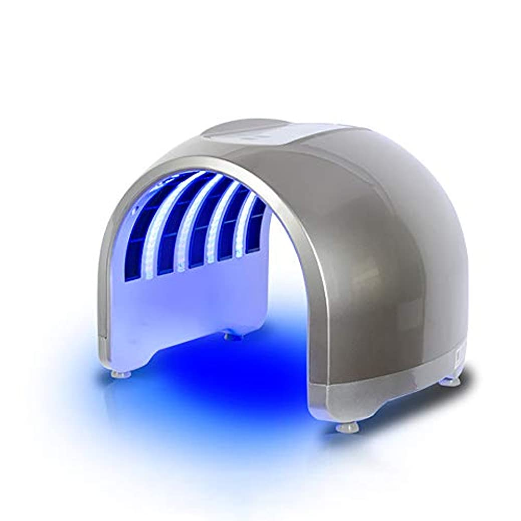 子犬採用接ぎ木7色ledフェイシャルマスク、ポータブルにきび治療しわ除去アンチエイジング肌の若返りスキンケア美容機