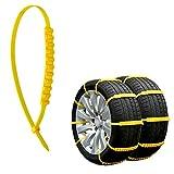 Rupse 自動車用タイヤチェーン アンチスリップ 非金属 簡単取付 & 調整可能 防災応急用 雪対策 20本入り