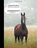 Composition Book What Are You Looking At? Brown Horse 100 Sheet/200 Pages: Funny Plain Journal Blank Writing Notebook Lined Page Brown Foal (Composition Notebook Journal)
