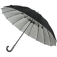 傘 メンズ 大型 晴雨兼用 雨傘&日傘 大きい 長傘 65cm グラスファイバー16本骨 UVカット 99% 遮光 675I