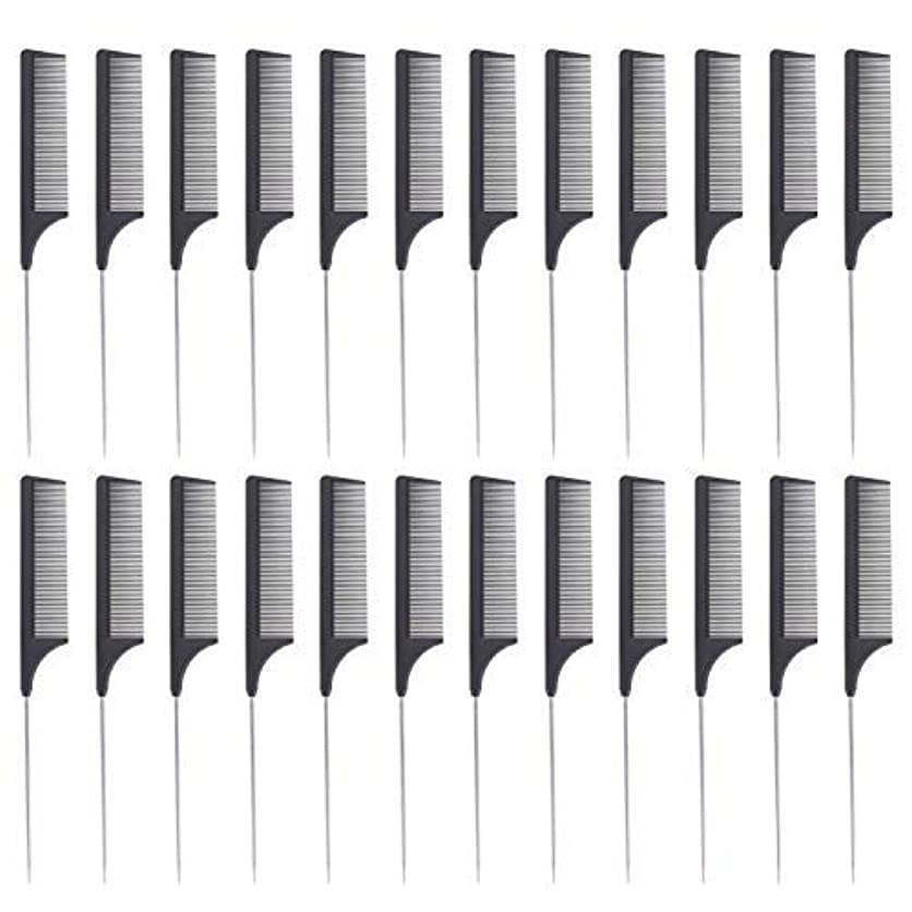 エージェント重要性選出する24 Pieces Comb Black Tail Styling Comb Chemical Heat Resistant Teasing Comb Carbon Fiber Hair Styling Combs for...