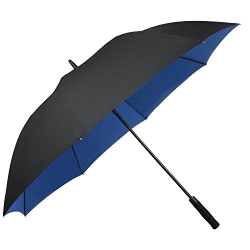 Asika 長傘 紳士傘 メンズ 二重構造 耐風 撥水 UVカット 高強度グラスファイバー 大きい ゴルフ ビジネス 車 晴雨兼用 おしゃれ