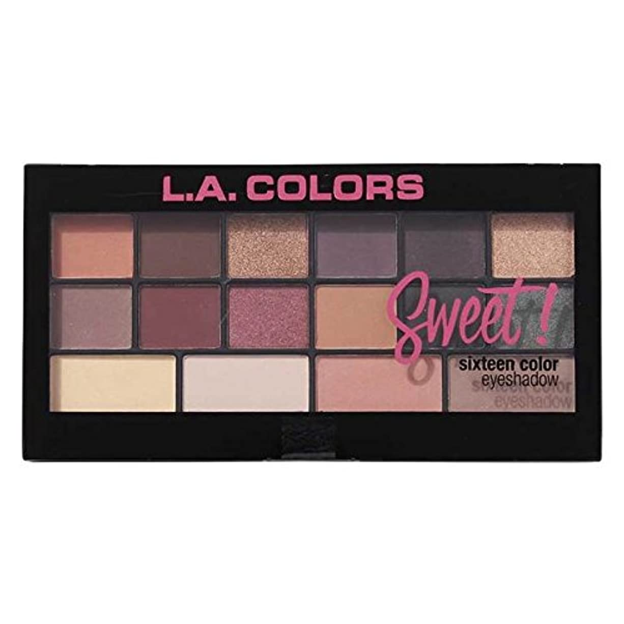(3 Pack) L.A. Colors Sweet! 16 Color Eyeshadow Palette - Seductive (並行輸入品)