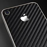 SGP アイフォン 4 スキンガード 【 CARBON BLACK 】 液晶保護シートセット for iPhone 4