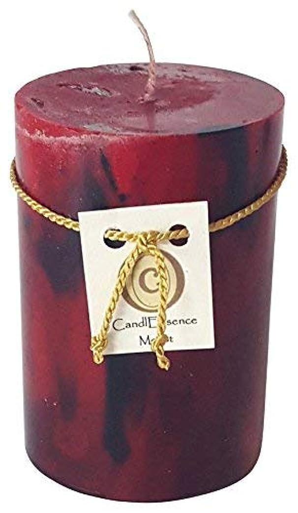 誇りに思う発生お酢(Small) - Handmade Scented Candle - Long Burning Pillar - Merlot Scent (Small)