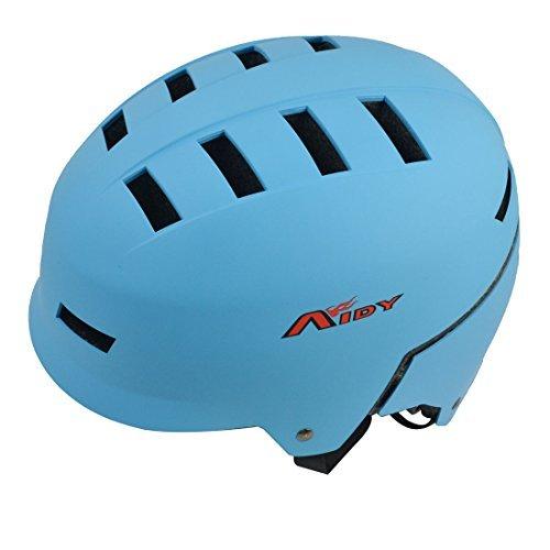 DealMuxアウト中空デザインPVC屋外の安全自転車ヘルメット23-25インチブルー
