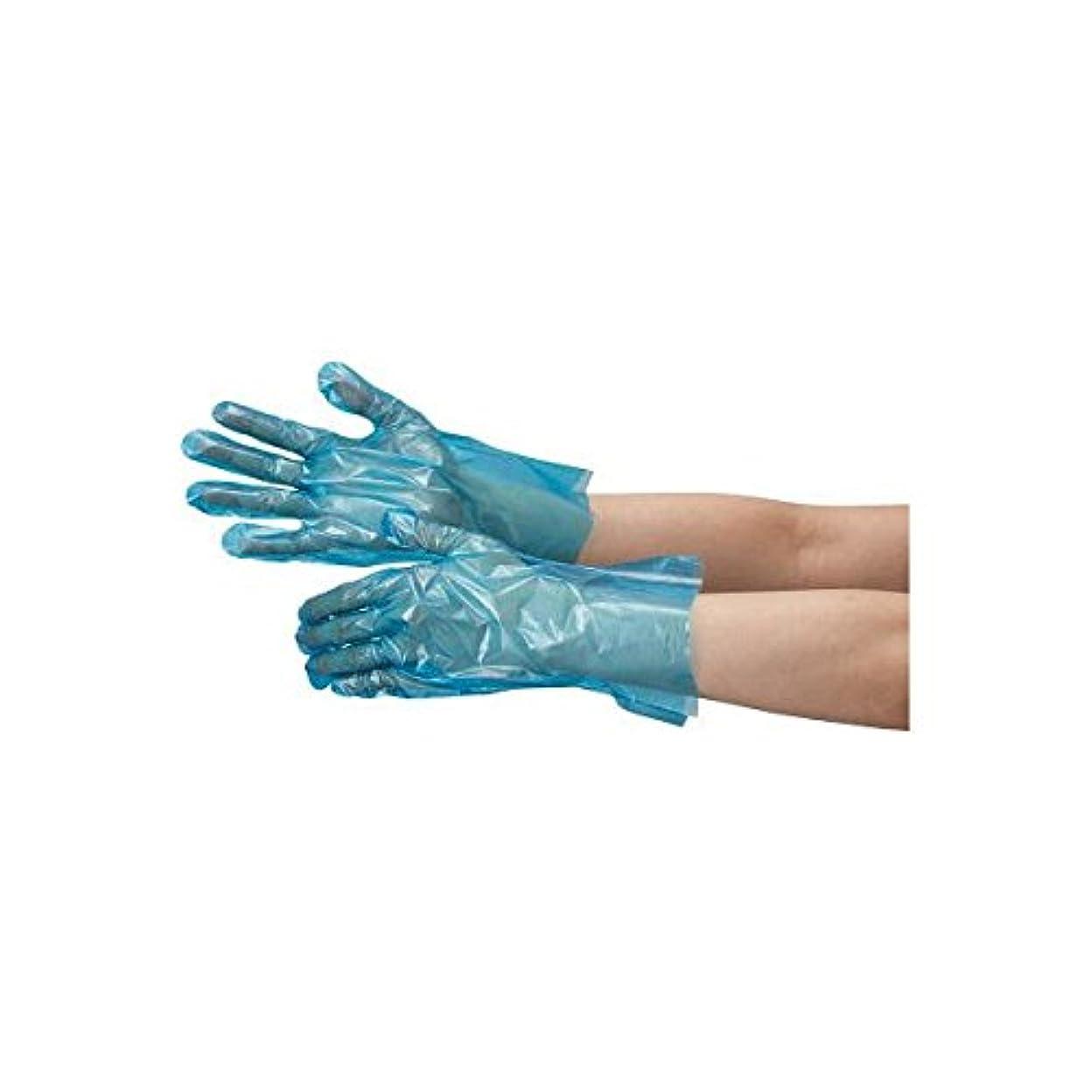 こしょうグレートバリアリーフ手足ミドリ安全/ミドリ安全 ポリエチレン使い捨て手袋 片エンボス 200枚入 青 L(3888851) VERTE-504-L [その他]