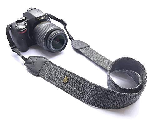 FUKUSHOP カメラストラップ 速写ストラップ ネックストラップ カメラショルダーストラップ カメラ肩掛けストラップ ショルダーベルト 一眼レフ DV デジタルカメラ ビデオカメラ用 長さ調節可能 ニコン キャノン ソニー パナソニック 富士フィルムなど対応 (ブラック)