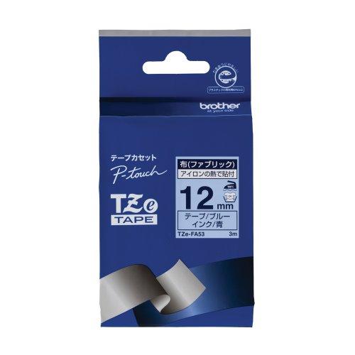 ピータッチ 布テープ ブルーラベル TZe-FA53 [青文字 12mm×3m]