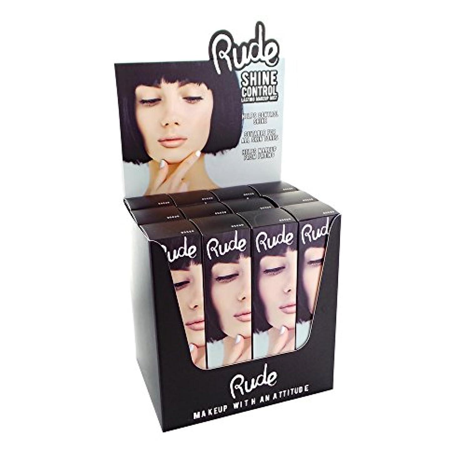 経度急襲好ましいRUDE Shine Control Lasting Makeup Mist Display Set, 12 Pieces (並行輸入品)
