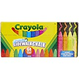 Crayola Washable Sidewalk Chalk, 64ct, Includes Glitter & Neon, Outdoor Gifts for Kids