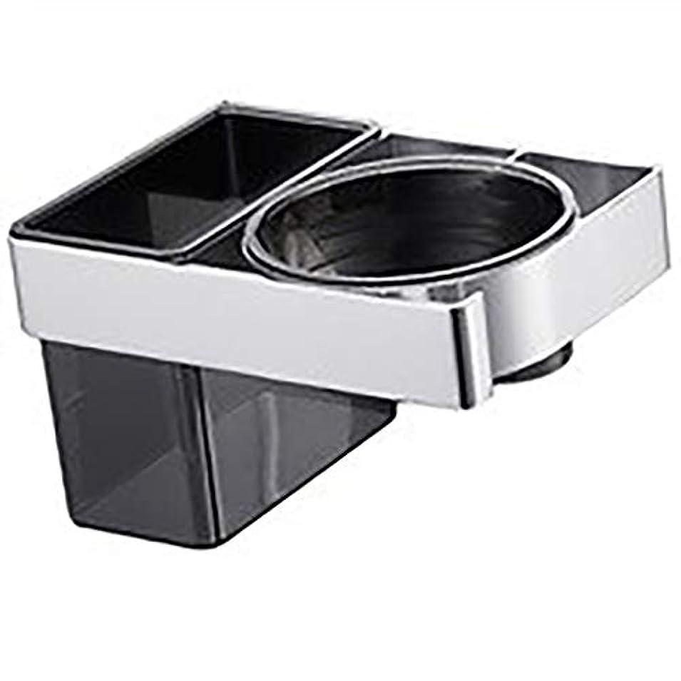 こっそり高架援助TYJUSA 浴室の棚のヘアードライヤーの棚スペースアルミニウム自由に穴があいた浴室の家の壁の台紙の浴室の棚のヘアードライヤーの棚 (Color : Black, Size : 15*10*9cm)