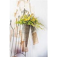 花かご 花バスケット 籐バスケット 壁掛け(17060101)
