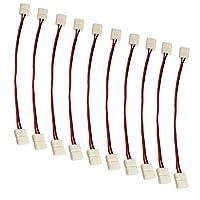 coolled–10x LED 3528ストリップライトワイヤ2ピンコネクタ単一色アダプタ。。。