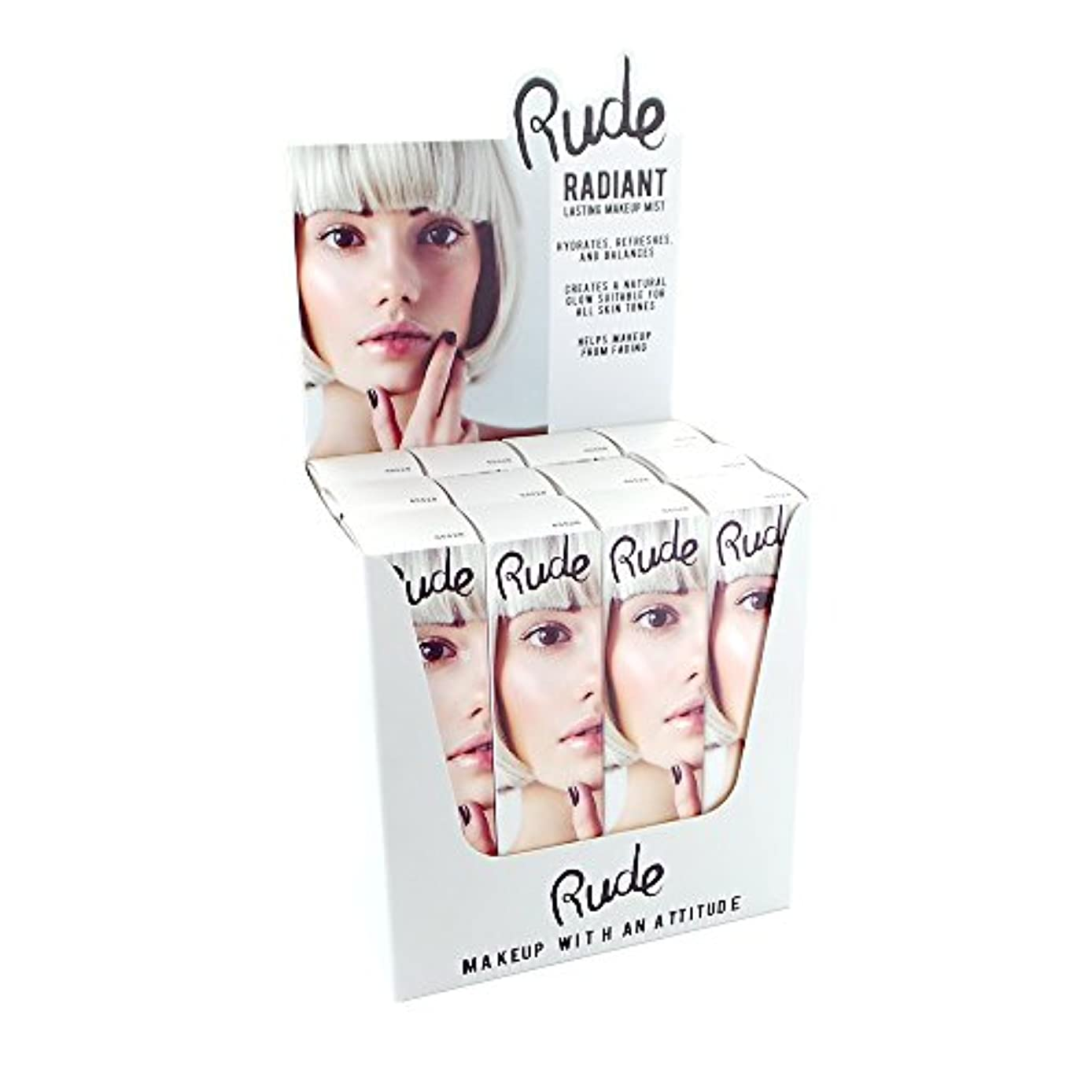 留め金消化器忠誠RUDE Radiant Lasting Makeup Mist Display Set, 12 Pieces (並行輸入品)