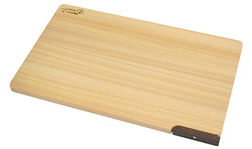 食器洗い乾燥機対応 ひのきまな板 【スタンド付き】 39cm