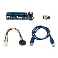 B Baosity USB3.0 PCI-E 1x →16x グラフィックス エクステンダ ライザーカードアダプタ 電源ケーブル