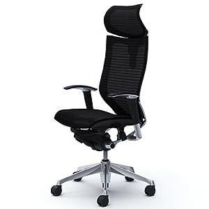 オカムラ オフィスチェア バロン 可動ヘッドレスト 可動肘 座メッシュ ブラック  CP81AR-FDH1