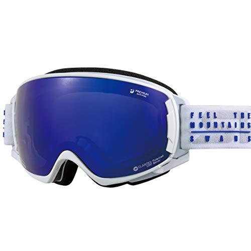 【国産ブランド】SWANS(スワンズ) スキー スノーボード ゴーグル はがれないMITミラーレンズ くもり止め プレミアムアンチフォグ搭載 偏光 撥水 スキー スノーボード ROVO-MPDH-SC-MIT-PAF MAWF