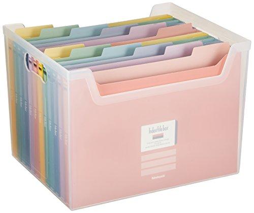 ナカバヤシ インデックス ファイルボックス 書類収納ケース F4 クリア フボI-F4C