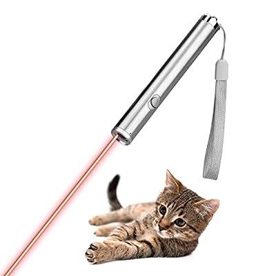 猫 LED ポインター 電池式 ペンライト 懐中電灯 両用 じゃれ猫 改良版 (PL01)