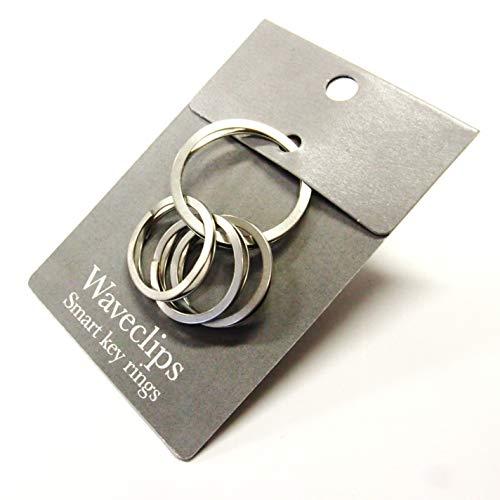 スマートキーリング/簡単とりつけ/指・爪の負担解消/高強度ステンレス製/国産メーカー/大×1 小×3