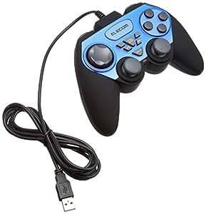 ELECOM ゲームパッド USB接続 アナログスティック搭載 振動/連射 12ボタン JC-U2312FBU