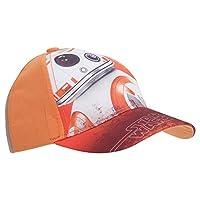 (ディズニー) Disney スター・ウォーズ キッズ・子供用 フォースの覚醒 BB-8 キャラクターキャップ 帽子 ハット ボーイズ 夏 (54cm) (オレンジ)