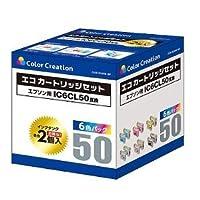 カラークリエーション カラークリエイション Color Creation 汎用エコカートリッジ CCE-IC50W-6P CCEIC50W6P