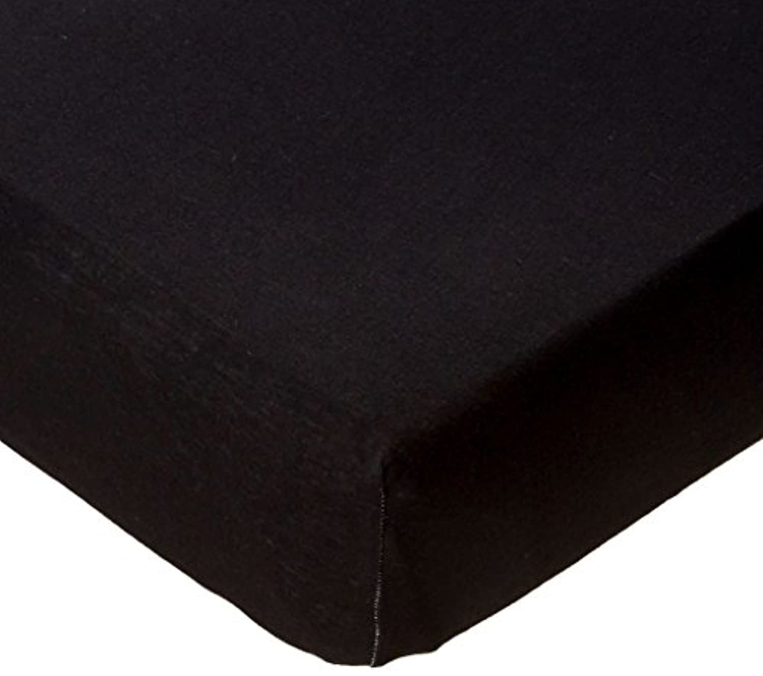 SheetWorld Fitted Portable / Mini Crib Sheet - Solid Black Jersey Knit - Solid Colors by sheetworld