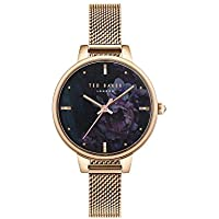 Ted Baker Women's KATE Quartz Watch with Stainless-Steel Strap, Rose Gold, 10 (Model: TE50070015