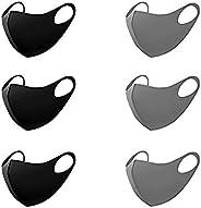 Tinawells 洗えるマスク 6枚セット 立體型 ファッションマスク 夏用 洗える 在庫あり 吸汗速乾 繰り返し使える 個包裝 ホコリ 花粉 紫外線対策 男女兼用 (ブラック&グレー)