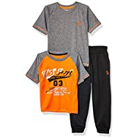 U.S. Polo Assn. Boys' 3 Piece Athletic, T-Shirt, and Jogger Set