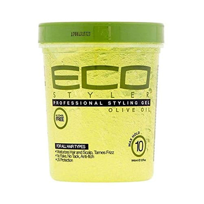 コピーしわ添加[ECO STYLER ] エコスタイラオリーブ油スタイリングゲル946ミリリットル - ECO Styler Olive Oil Styling Gel 946ml [並行輸入品]