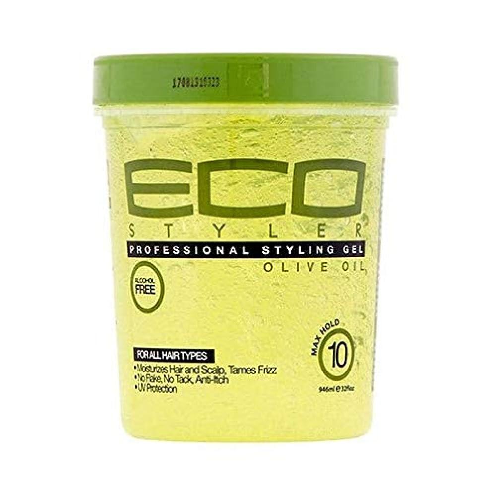 手書きさびた味方[ECO STYLER ] エコスタイラオリーブ油スタイリングゲル946ミリリットル - ECO Styler Olive Oil Styling Gel 946ml [並行輸入品]