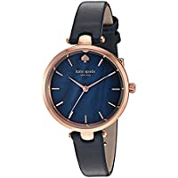 kate spade new york Women's 'Holland' Quartz Stainless Steel and Leather Watch, Color:Blue (Model: KSW1157)