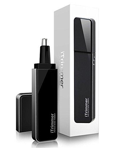 Tezam 水洗い鼻・耳毛カッター 鼻/耳/眉/ネックの毛カッター ボディケアシリーズ 内蔵LEDライト レデイース メンズ電池式