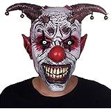 ホラーベルクラウンラテックスヘッドセットハロウィン仮装パフォーマンス小道具カーニバルパーティーマスク