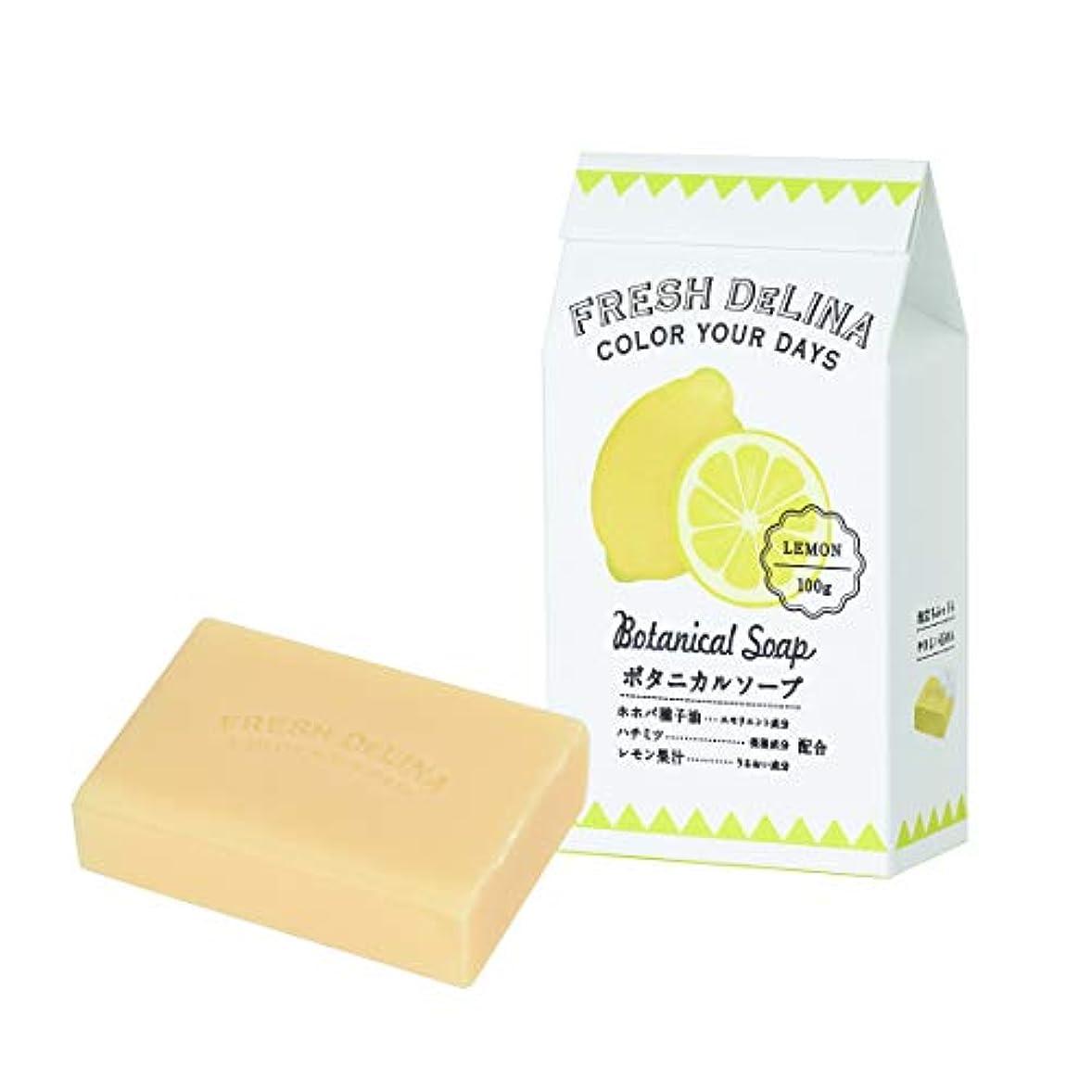 上に分泌するフレッシュデリーナ ボタニカルソープ レモン 100g