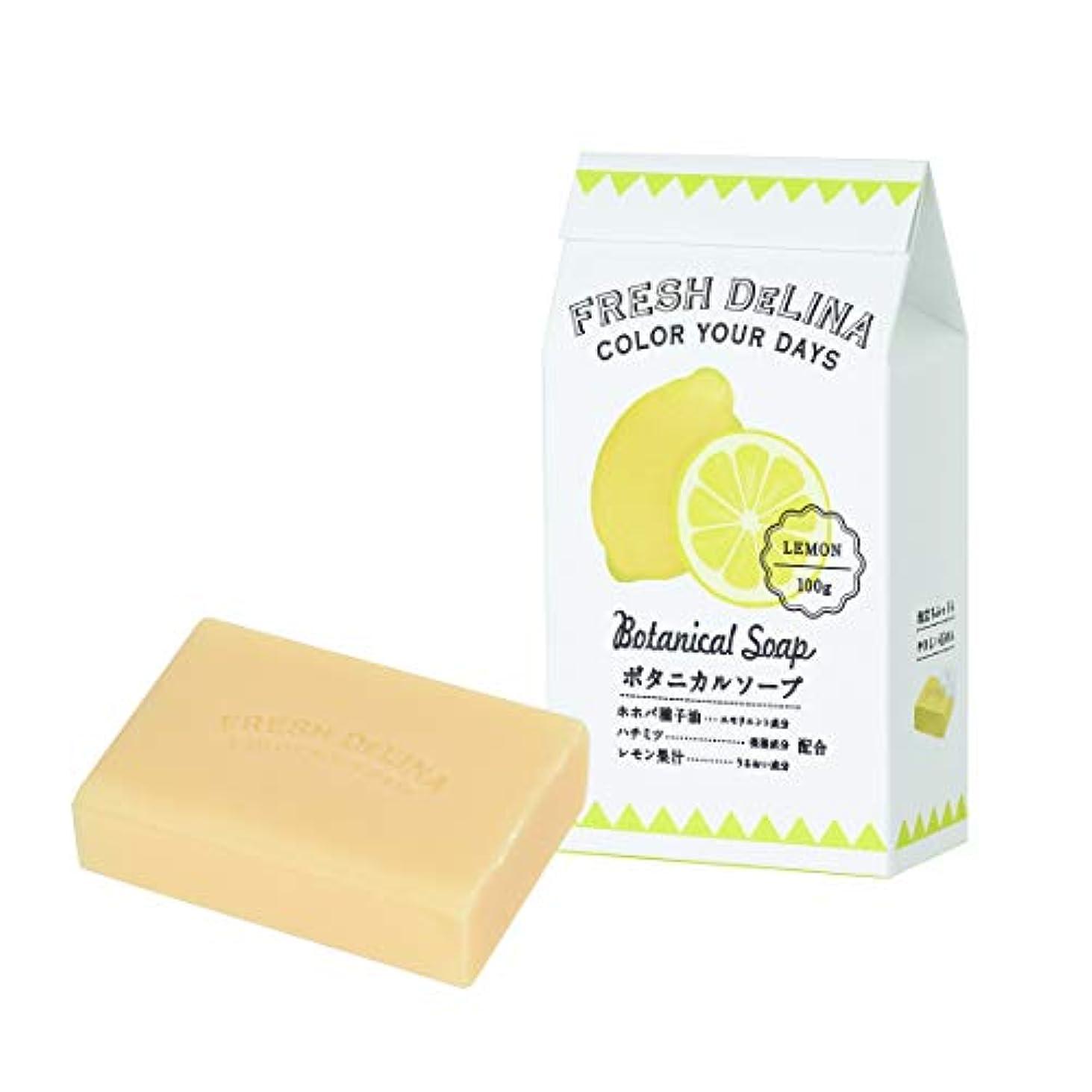 吸収する留まる定常フレッシュデリーナ ボタニカルソープ レモン 100g