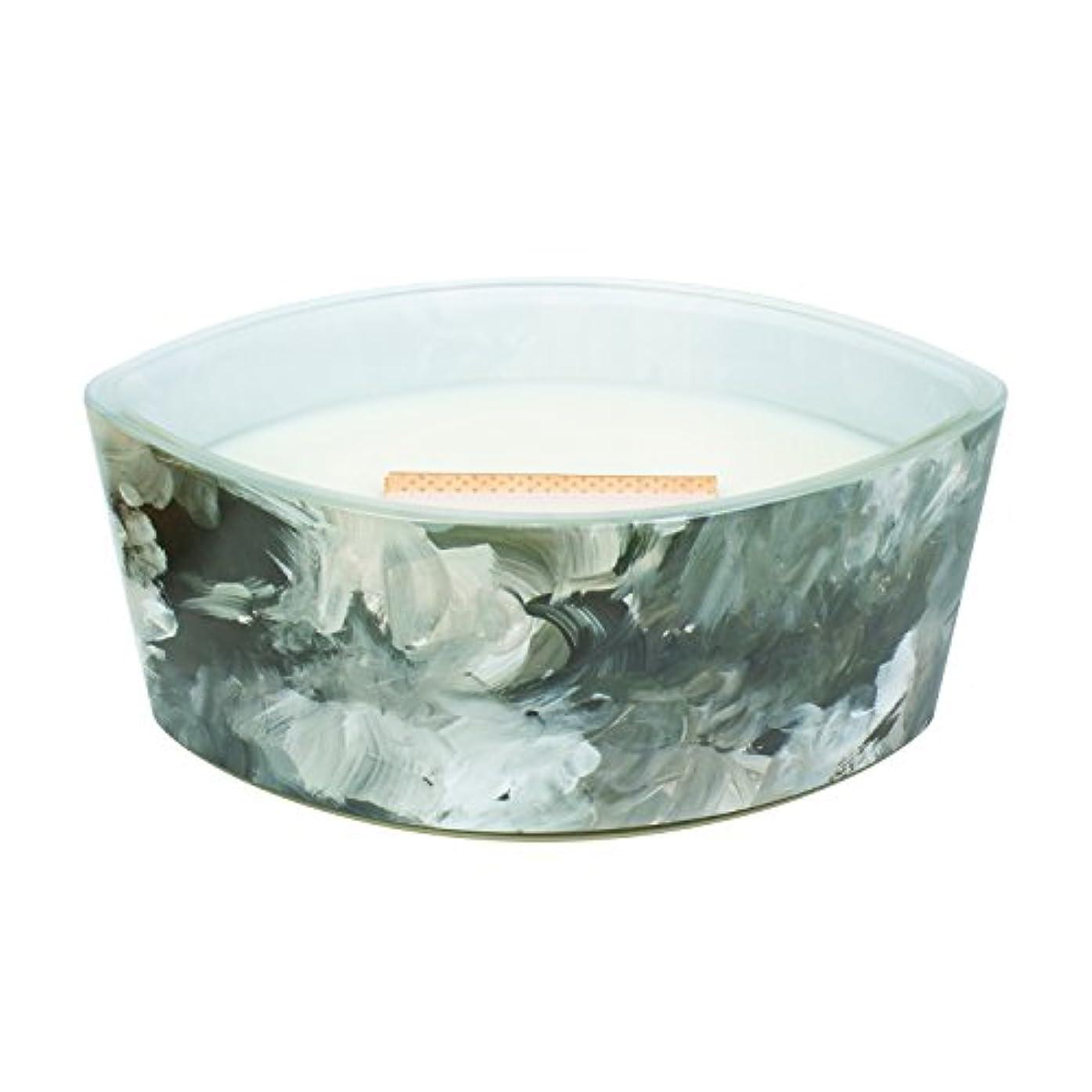 ちらつきジェム階ブラックオレンジCitrus – アーティザンコレクション楕円WoodWick香りつきJar Candle