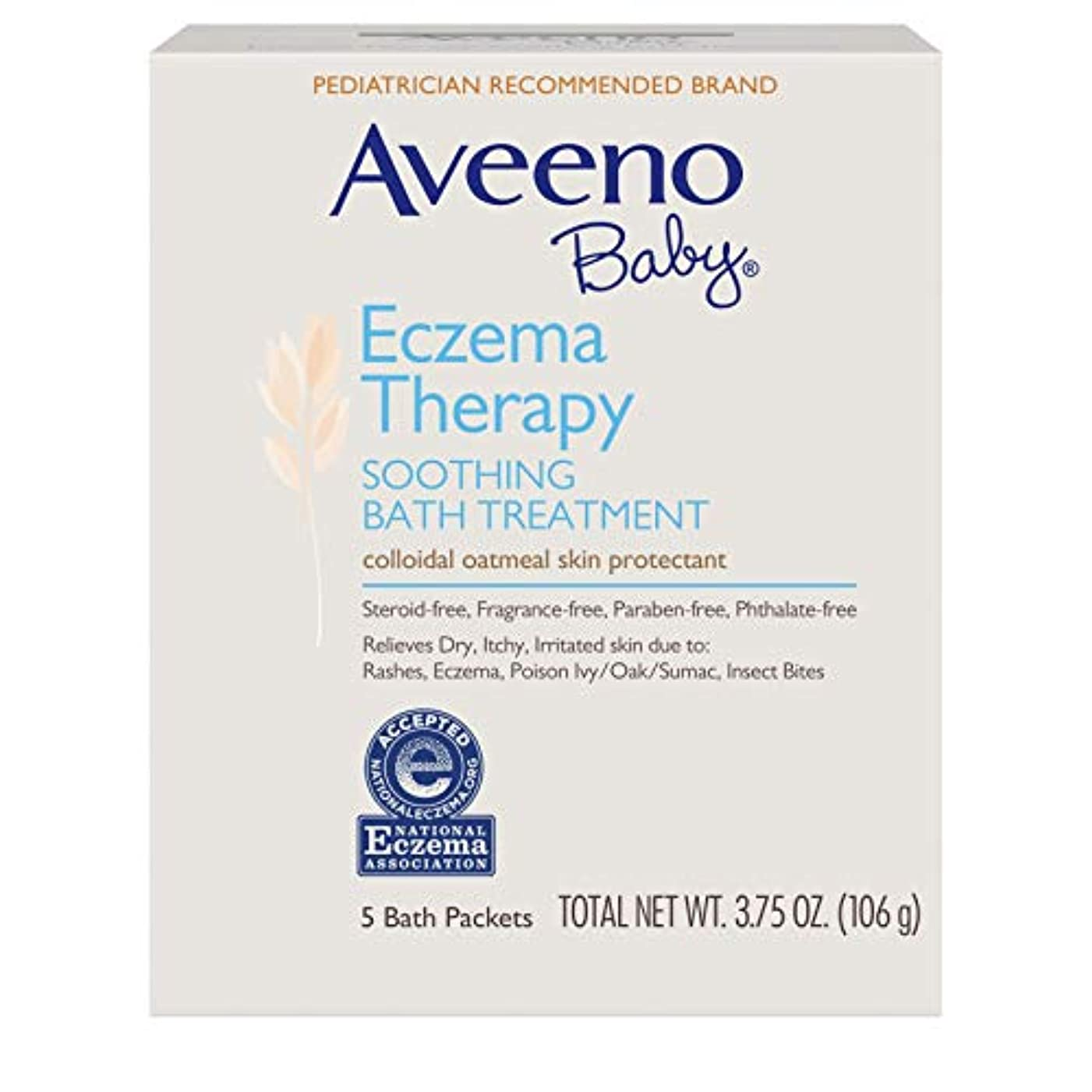 変動する虚弱日〈海外直送品〉AVEENO® Baby Eczema Therapy SOOTHING BATH TREATMENT - 5パック(106g) アヴィーノ スーシング バストリートメント