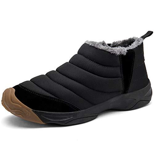 [visionreast] 23.0-28.0cm スノーシューズ メンズ 防寒 ブーツ サイドジップ サイドゴア 防寒靴 レーディス ショートブーツ 黒 防水 スノーブーツ 短靴 アウトドア 冬靴 防滑