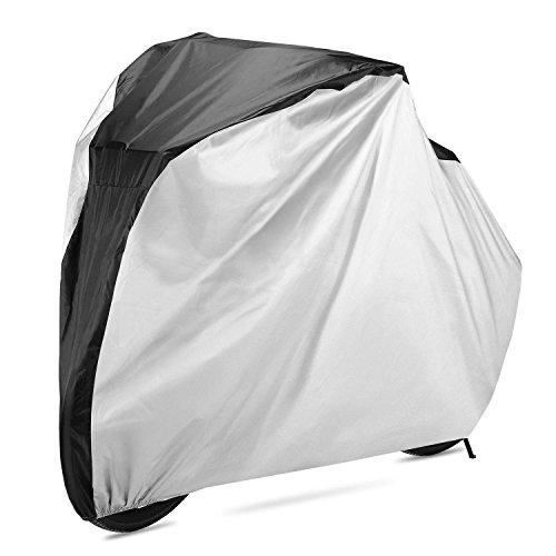 Werocker 自転車カバー サイクルカバー 防水 UVカット 厚手 ロードバイクや電動自転車にも 2台対応 風飛び防止 雨雪対策 収納袋付き