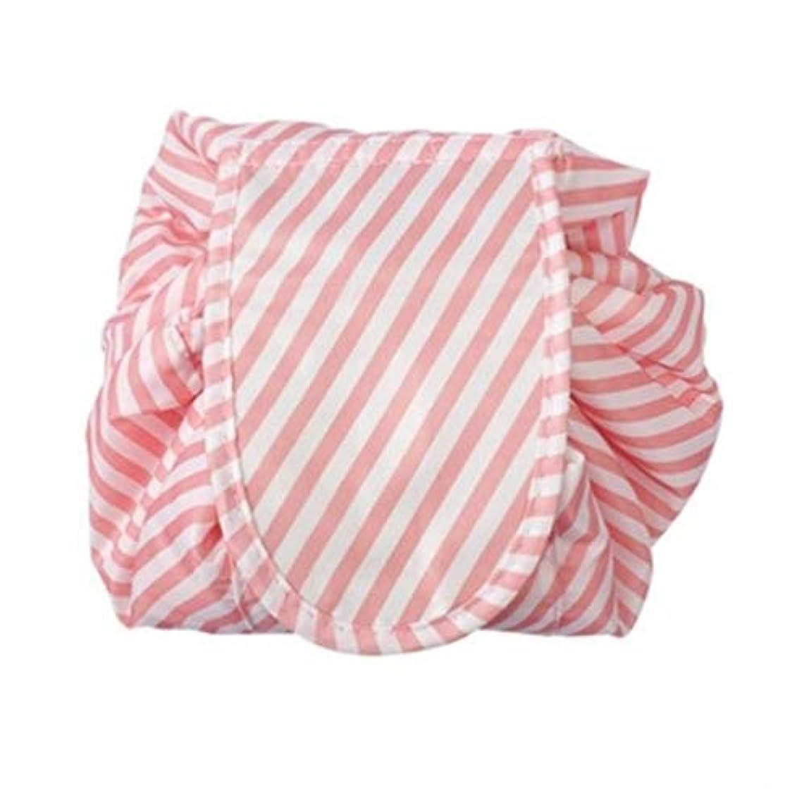 複雑苦行まさにメイクポーチ 怠け者化粧品ポーチ ドローストリング化粧品ポーチ 収納バッグ シンプル携帯便利化粧品バッグ 化粧品収納バッグ (ピンク)