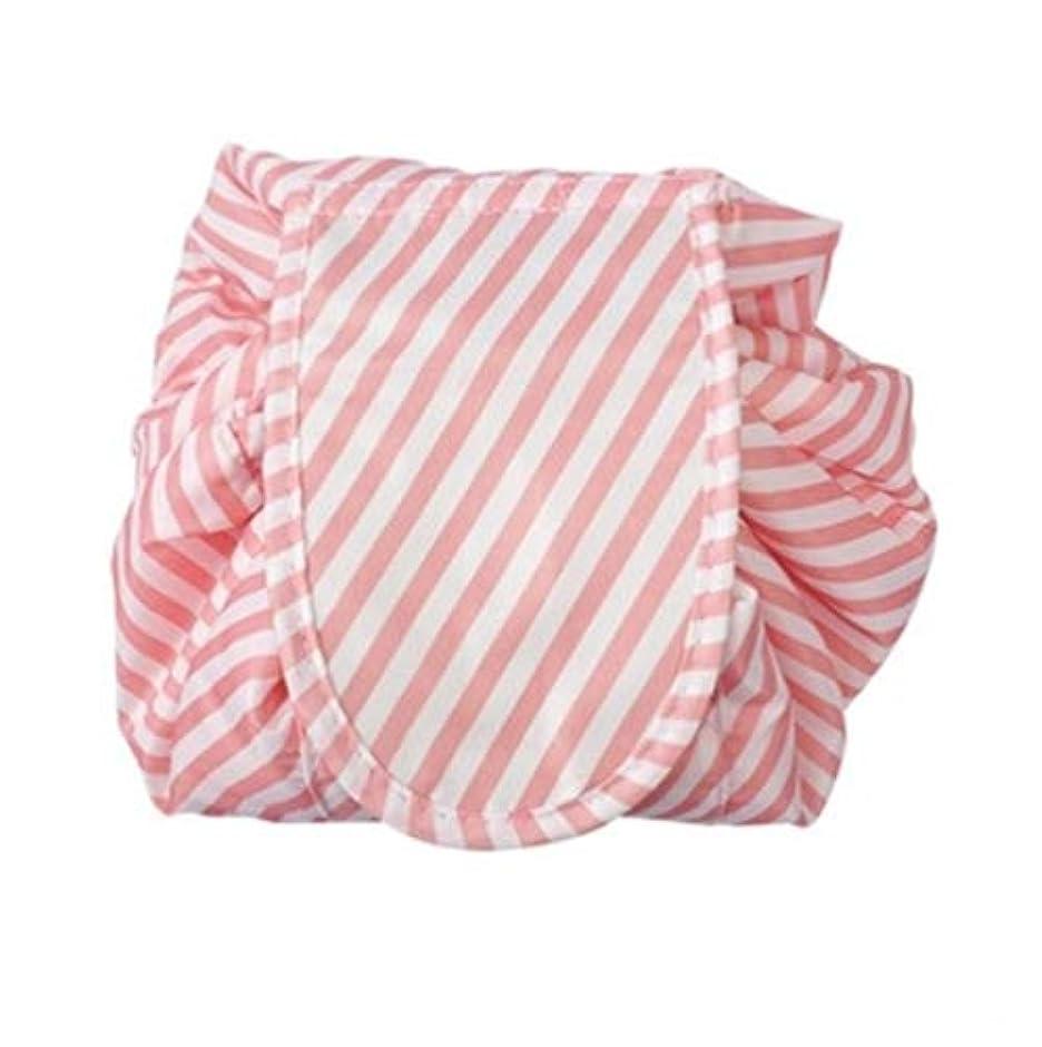 交響曲略奪パイルメイクポーチ 怠け者化粧品ポーチ ドローストリング化粧品ポーチ 収納バッグ シンプル携帯便利化粧品バッグ 化粧品収納バッグ (ピンク)
