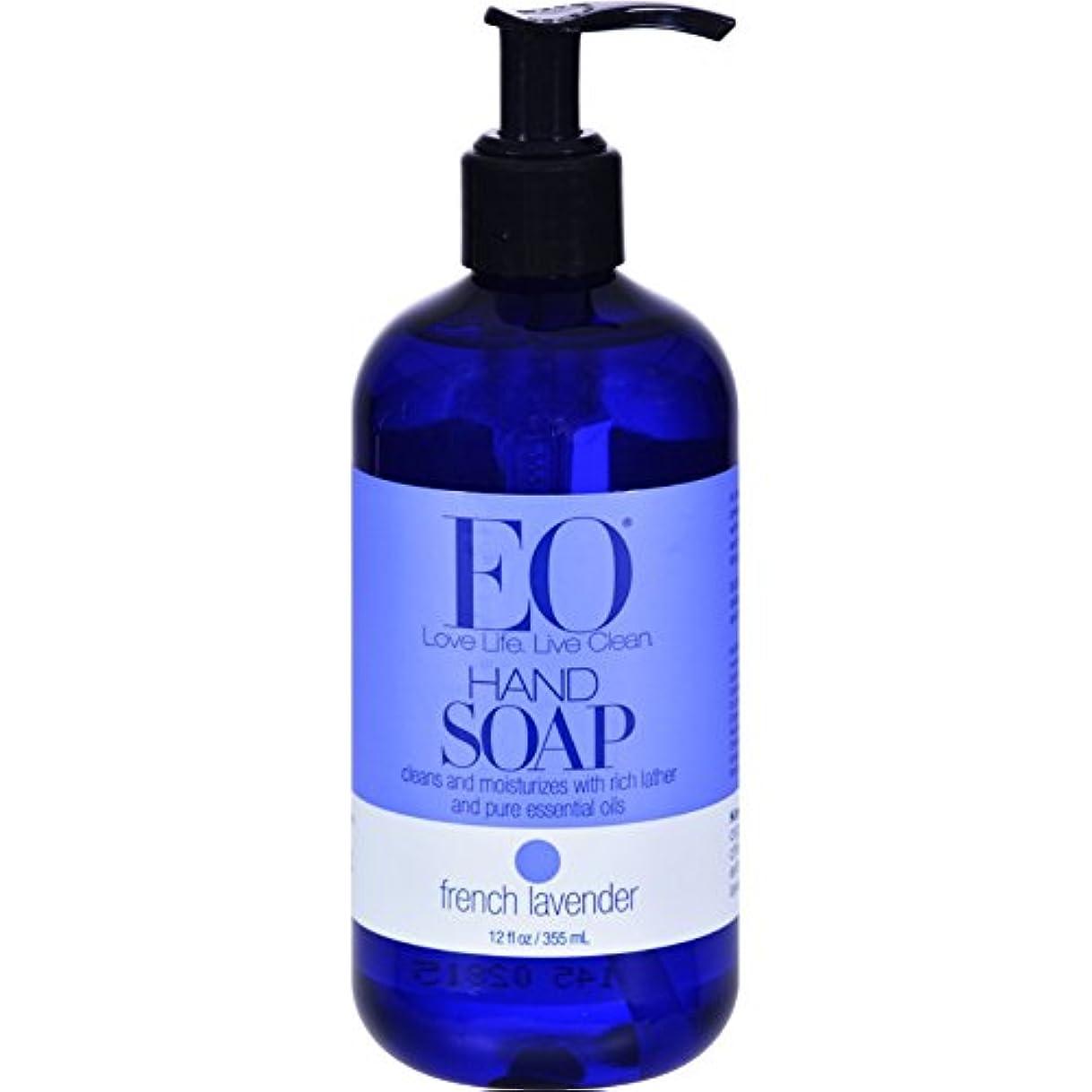 ボトルスローガン服を洗うEO ハンドソープ フレンチラベンダー 360ml